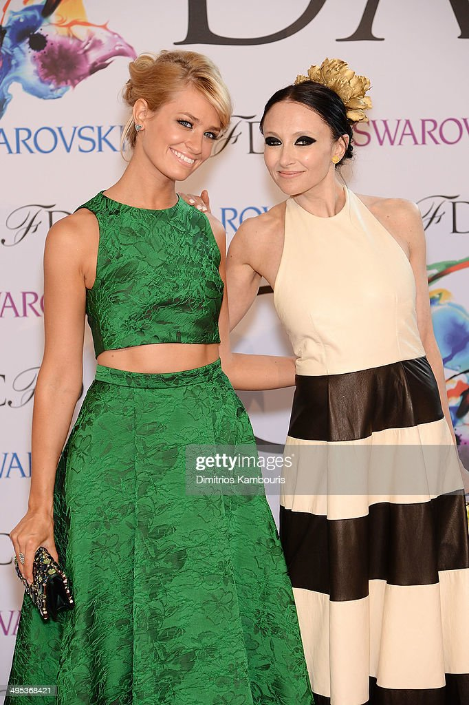 Actress Beth Behrs and designer Stacey Bennet attend the 2014 CFDA fashion awards at Alice Tully Hall, Lincoln Center on June 2, 2014 in New York City.