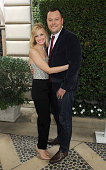 Actress Beth Behrs and Michael Gladis arrive at The Rape Foundation's Annual Brunch at Greenacres The Private Estate of Ron Burkle on October 4 2015...