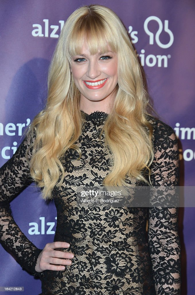 Actress Beth Behrs arrives at 21st Annual 'A Night At Sardi's' gala benefiting the Alzheimer's Association - Arrivals at The Beverly Hilton Hotel on March 20, 2013 in Beverly Hills, California.