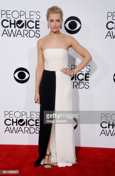 Actress Beth Behrs arrives at the 40th Annual People's Choice Awards at Nokia Theatre LA Live on January 8 2014 in Los Angeles California