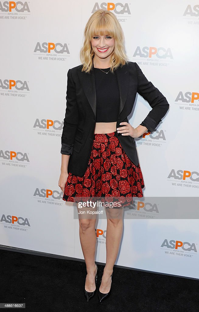 Actress <a gi-track='captionPersonalityLinkClicked' href=/galleries/search?phrase=Beth+Behrs&family=editorial&specificpeople=6556378 ng-click='$event.stopPropagation()'>Beth Behrs</a> arrives at The American Society For The Prevention Of Cruelty To Animals Celebrity Cocktail Party on May 6, 2014 in Beverly Hills, California.
