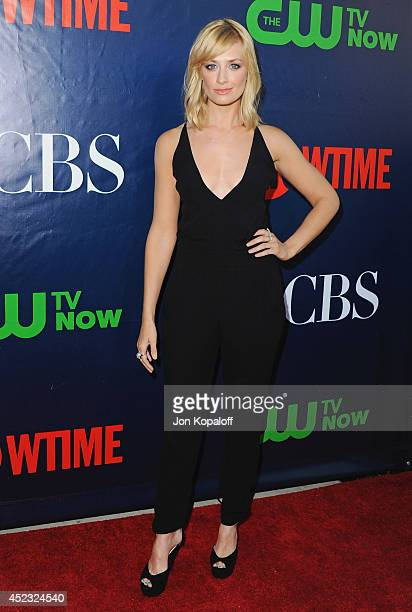 Actress Beth Behrs arrives at the CBS The CW Showtime CBS Television Distribution 2014 Television Critics Association Summer Press Tour at Pacific...