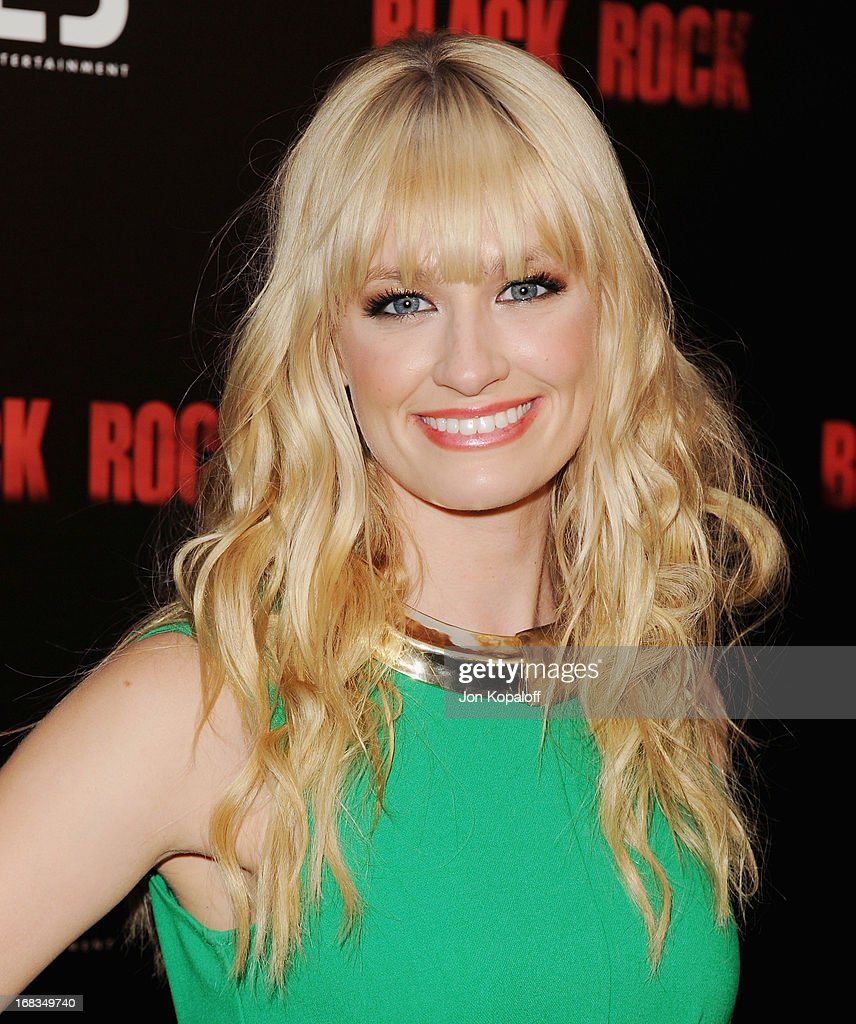 Actress Beth Behrs arrives at the Los Angeles Premiere 'Black Rock' at ArcLight Hollywood on May 8, 2013 in Hollywood, California.