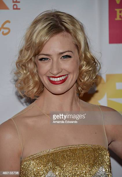 Actress Beth Behrs arrives at the TrevorLIVE Los Angeles benefit event at the Hollywood Palladium on December 7 2014 in Los Angeles California
