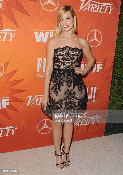 Actress Beth Behrs arrives at the Variety And Women In Film Annual PreEmmy Celebration at Gracias Madre on September 18 2015 in West Hollywood...