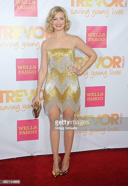 Actress Beth Behrs arrives at TrevorLIVE Los Angeles at Hollywood Palladium on December 7 2014 in Los Angeles California