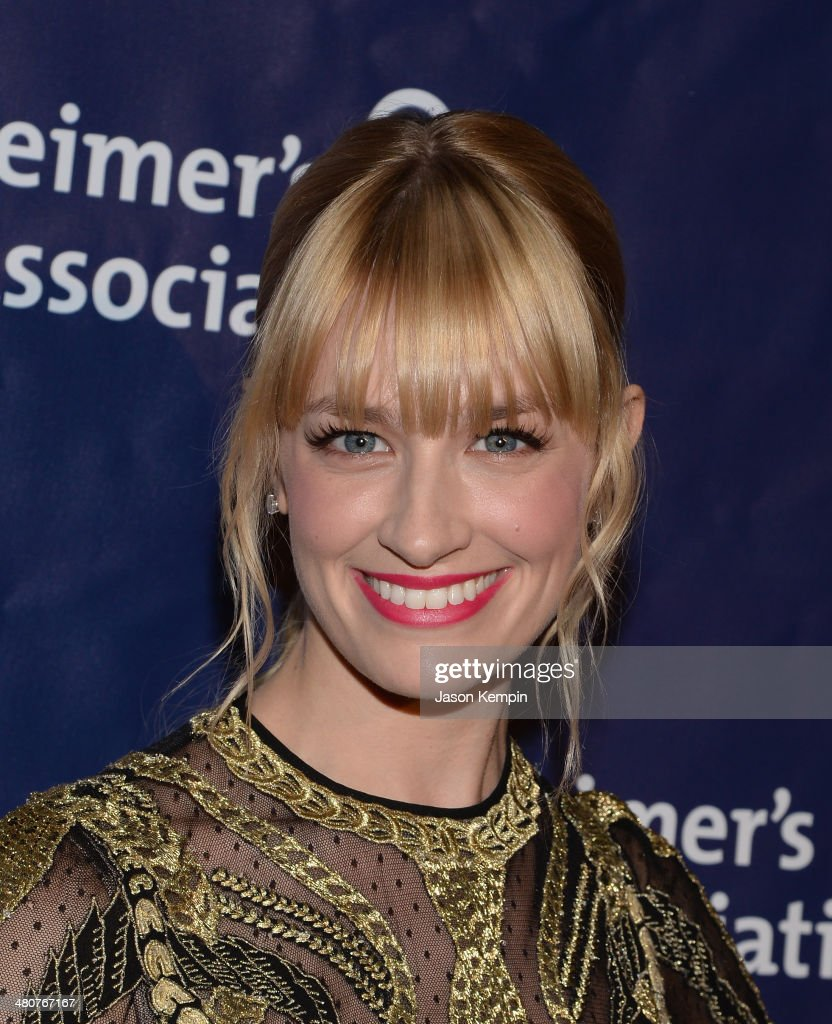 Actress <a gi-track='captionPersonalityLinkClicked' href=/galleries/search?phrase=Beth+Behrs&family=editorial&specificpeople=6556378 ng-click='$event.stopPropagation()'>Beth Behrs</a> attends 22nd A Night At Sardi's at The Beverly Hilton Hotel on March 26, 2014 in Beverly Hills, California.