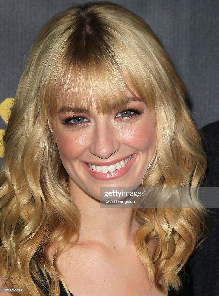 Actress Beth Behrs attends a screening of Tribeca Film's 'Struck By Lightning' at Mann Chinese 6 on January 6, 2013 in Los Angeles, California.
