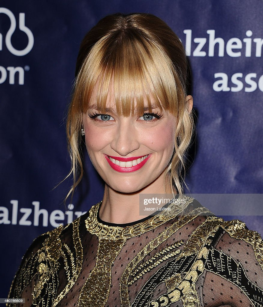 Actress <a gi-track='captionPersonalityLinkClicked' href=/galleries/search?phrase=Beth+Behrs&family=editorial&specificpeople=6556378 ng-click='$event.stopPropagation()'>Beth Behrs</a> attends the 22nd 'A Night At Sardi's' at The Beverly Hilton Hotel on March 26, 2014 in Beverly Hills, California.