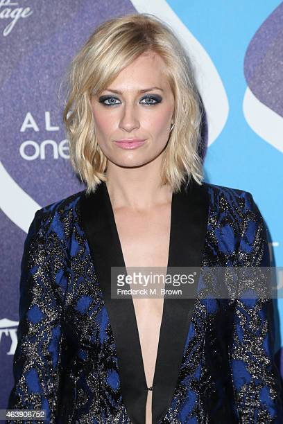 Actress Beth Behrs attends the 2nd Annual unite4humanity Presented By ALCATEL ONETOUCH at the Beverly Hilton Hotel on February 19 2015 in Los Angeles...
