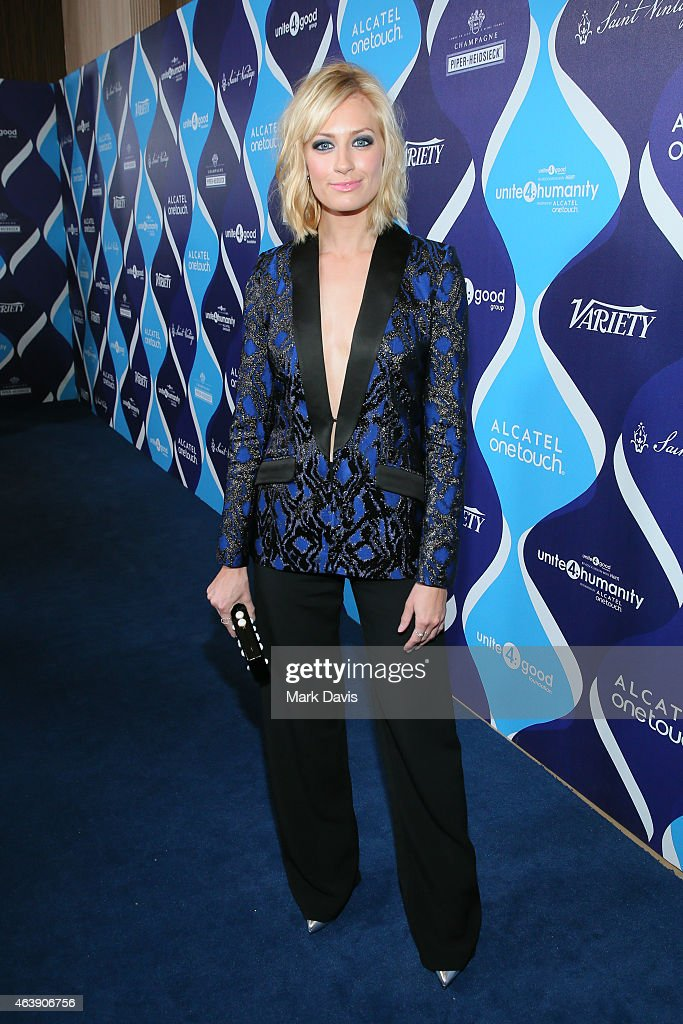 Actress <a gi-track='captionPersonalityLinkClicked' href=/galleries/search?phrase=Beth+Behrs&family=editorial&specificpeople=6556378 ng-click='$event.stopPropagation()'>Beth Behrs</a> attends the 2nd Annual unite4:humanity presented by ALCATEL ONETOUCH at the Beverly Hilton Hotel on February 19, 2015 in Los Angeles, California.