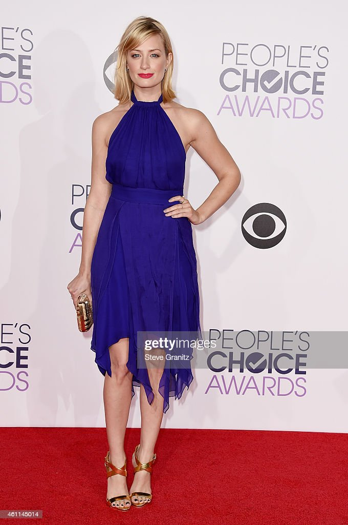 Actress <a gi-track='captionPersonalityLinkClicked' href=/galleries/search?phrase=Beth+Behrs&family=editorial&specificpeople=6556378 ng-click='$event.stopPropagation()'>Beth Behrs</a> attends The 41st Annual People's Choice Awards at Nokia Theatre LA Live on January 7, 2015 in Los Angeles, California.