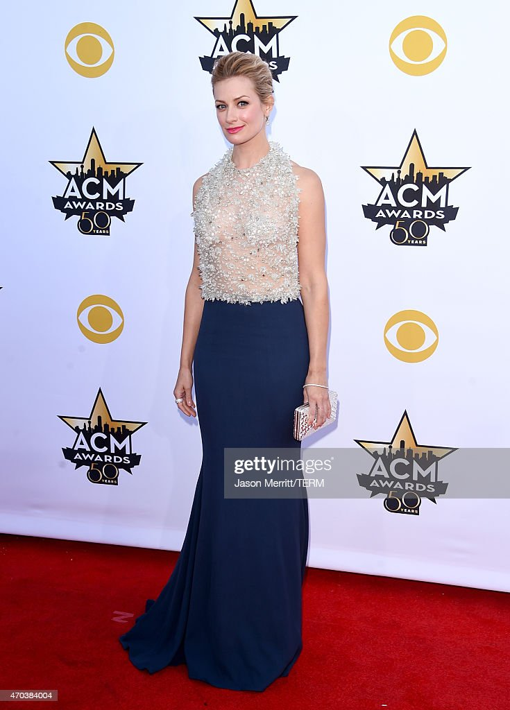 Actress <a gi-track='captionPersonalityLinkClicked' href=/galleries/search?phrase=Beth+Behrs&family=editorial&specificpeople=6556378 ng-click='$event.stopPropagation()'>Beth Behrs</a> attends the 50th Academy of Country Music Awards at AT&T Stadium on April 19, 2015 in Arlington, Texas.