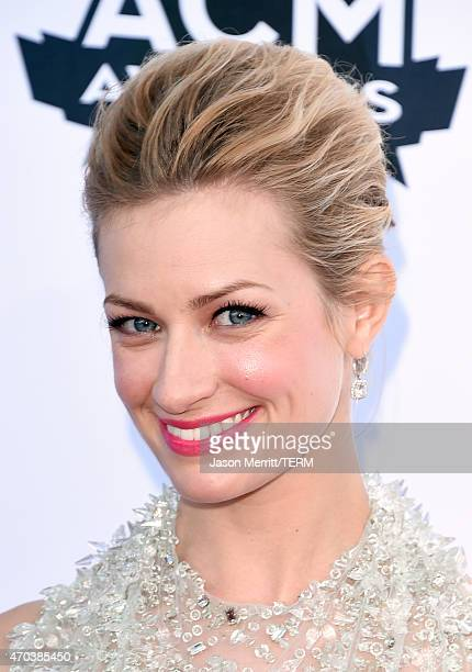 Actress Beth Behrs attends the 50th Academy of Country Music Awards at ATT Stadium on April 19 2015 in Arlington Texas