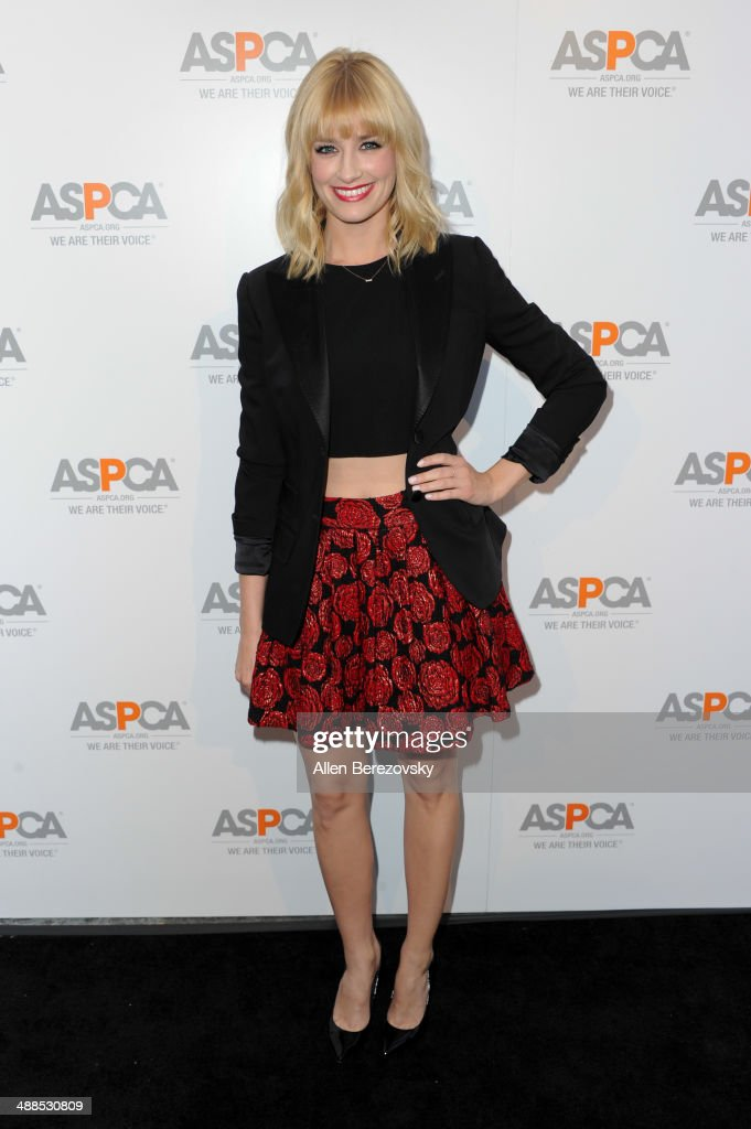 Actress <a gi-track='captionPersonalityLinkClicked' href=/galleries/search?phrase=Beth+Behrs&family=editorial&specificpeople=6556378 ng-click='$event.stopPropagation()'>Beth Behrs</a> attends the American Society for the Prevention of Cruelty to Animals celebrity cocktail party on May 6, 2014 in Beverly Hills, California.