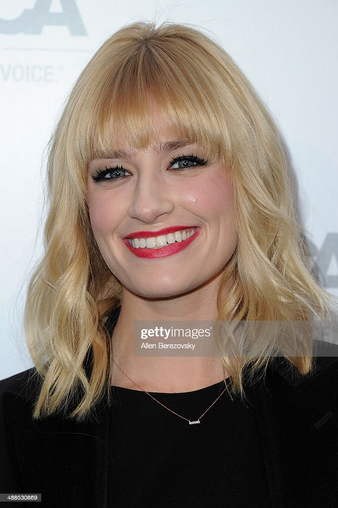 Actress Beth Behrs attends the American Society for the Prevention of Cruelty to Animals celebrity cocktail party on May 6, 2014 in Beverly Hills, California.