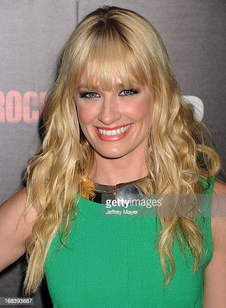 Actress Beth Behrs attends the 'Black Rock' Premiere held at ArcLight Hollywood on May 8 2013 in Hollywood California