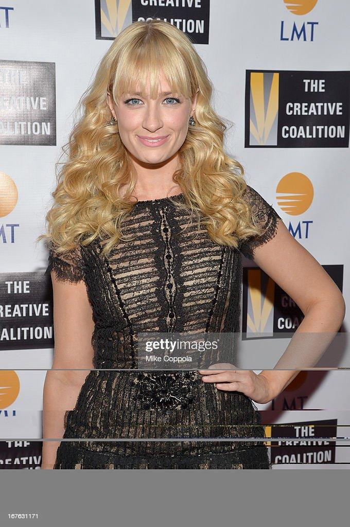 Actress <a gi-track='captionPersonalityLinkClicked' href=/galleries/search?phrase=Beth+Behrs&family=editorial&specificpeople=6556378 ng-click='$event.stopPropagation()'>Beth Behrs</a> attends the Celebrating The Arts In American Dinner Party With Distinguished Women In Media Presented By Landmark Technology Inc. And The Creative Coalition at Neyla on April 26, 2013 in Washington, DC.