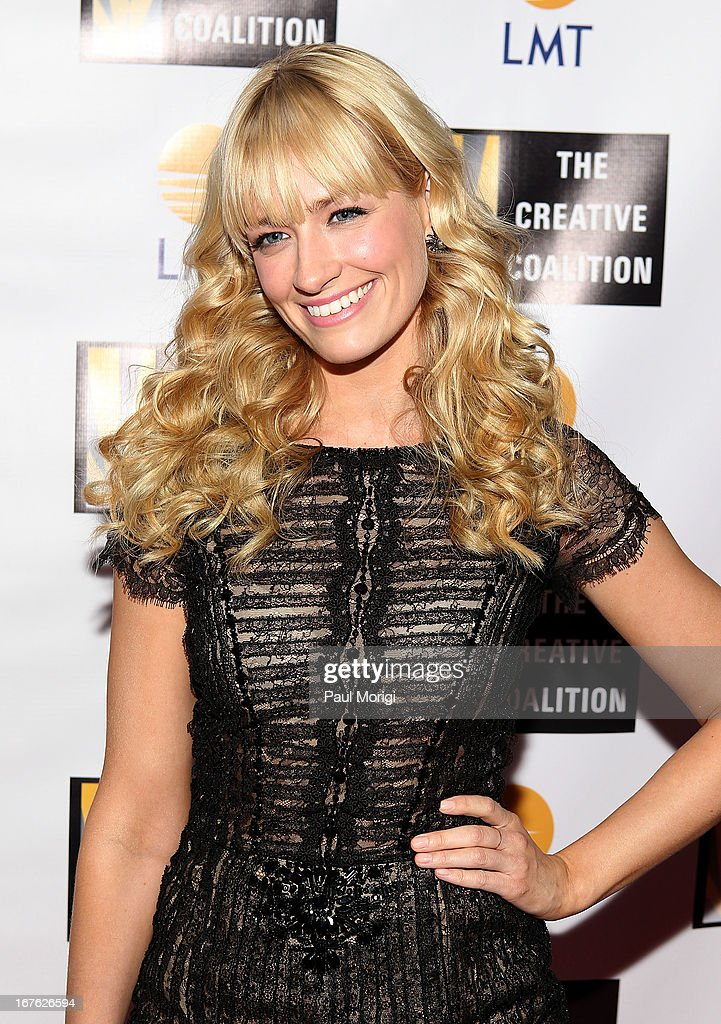 Actress Beth Behrs attends The Creative Coalition's and Lanmark Technology Inc.'s celebration of the Arts in America at Neyla on April 26, 2013 in Washington, DC.