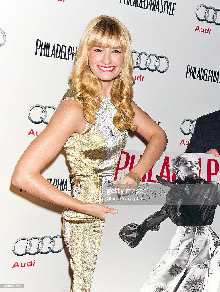 Actress <a gi-track='captionPersonalityLinkClicked' href=/galleries/search?phrase=Beth+Behrs&family=editorial&specificpeople=6556378 ng-click='$event.stopPropagation()'>Beth Behrs</a> attends the Philadelphia Style Magazine Holiday Issue Release Party at Trust on December 19, 2013 in Philadelphia, Pennsylvania.