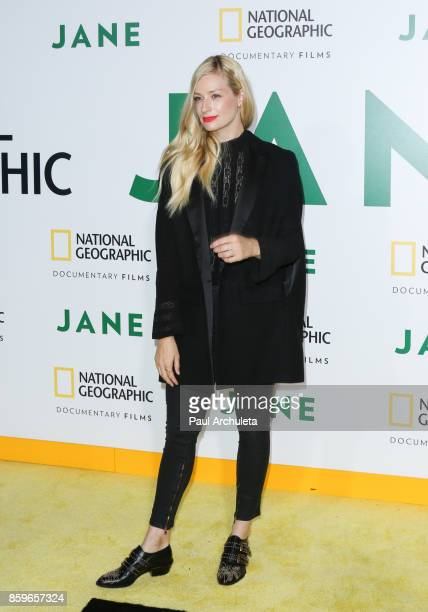 Actress Beth Behrs attends the premiere of National Geographic documentary films' 'Jane' at the Hollywood Bowl on October 9 2017 in Hollywood...