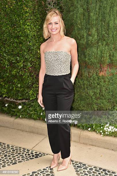 Actress Beth Behrs attends The Rape Foundation's annual brunch at Greenacres The Private Estate of Ron Burkle on October 4 2015 in Beverly Hills...