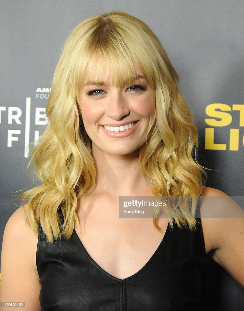 Actress <a gi-track='captionPersonalityLinkClicked' href=/galleries/search?phrase=Beth+Behrs&family=editorial&specificpeople=6556378 ng-click='$event.stopPropagation()'>Beth Behrs</a> attends the 'Struck By Lightning' premiere at Mann Chinese 6 on January 6, 2013 in Los Angeles, California.