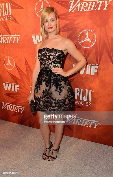 Actress Beth Behrs attends the Variety and Women in Film Annual PreEmmy Celebration at Gracias Madre on September 18 2015 in West Hollywood California
