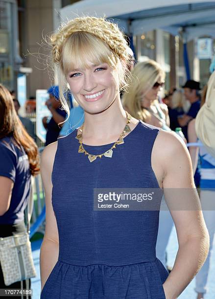 Actress Beth Behrs attends the world premiere of 'Monsters University' at the El Capitan Theatre on June 17 2013 in Hollywood California