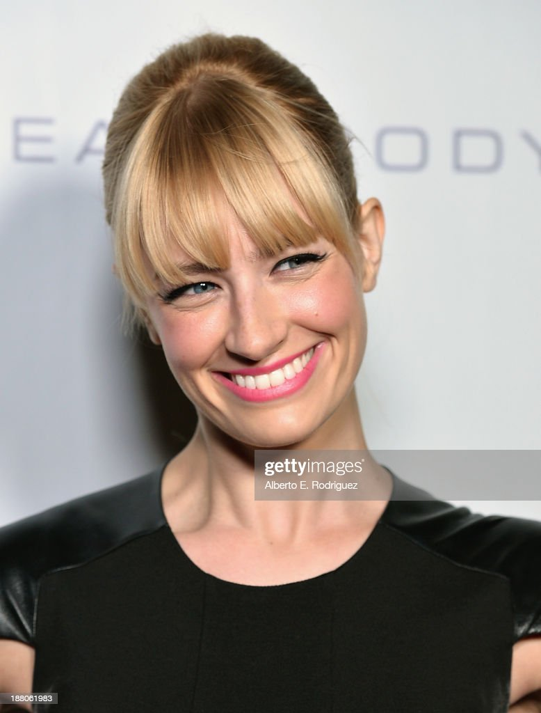 Actress <a gi-track='captionPersonalityLinkClicked' href=/galleries/search?phrase=Beth+Behrs&family=editorial&specificpeople=6556378 ng-click='$event.stopPropagation()'>Beth Behrs</a> atttends the 6th annual GO GO Gala on November 14, 2013 in Pacific Palisades, California.