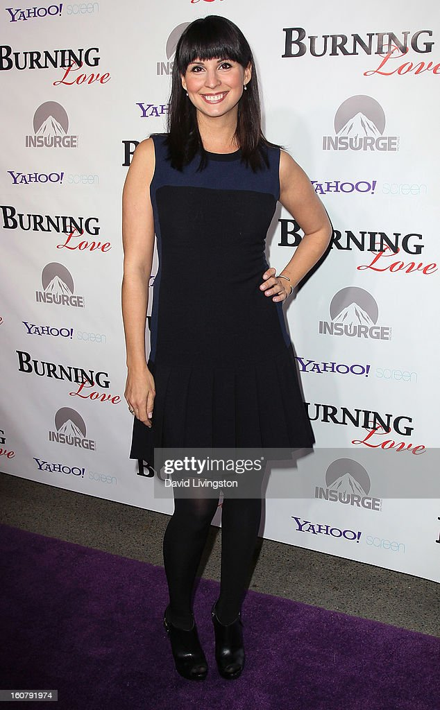 Actress Beth Dover attends the premiere of 'Burning Love' Season 2 at the Paramount Theater on the Paramount Studios lot on February 5, 2013 in Hollywood, California.