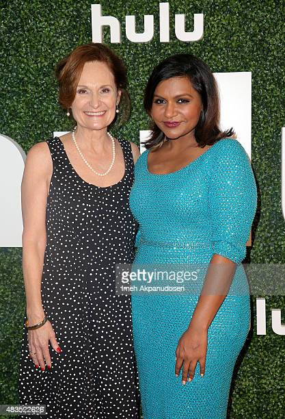 Actress Beth Grant and actress and Executive Producer Mindy Kaling attend the Hulu 2015 Summer TCA Presentation at The Beverly Hilton Hotel on August...