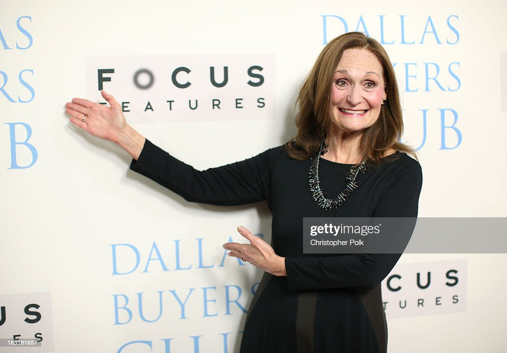 Actress Beth Grant attends Focus Features' 'Dallas Buyers Club' premiere at the Academy of Motion Picture Arts and Sciences on October 17, 2013 in Beverly Hills, California.