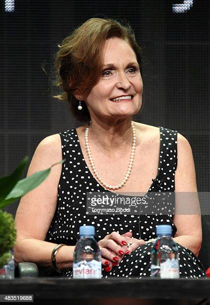 Actress Beth Grant speaks onstage during 'The Mindy Project' panel at the Hulu 2015 Summer TCA Presentation at The Beverly Hilton Hotel on August 9...