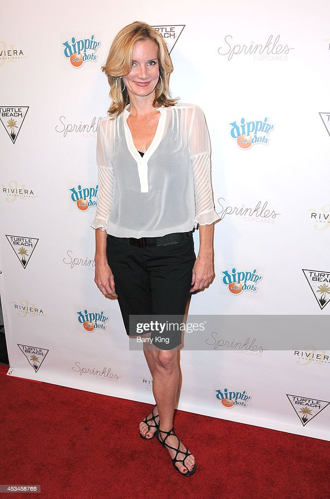 Actress Beth Littleford arrives at Blake Michael's 18th Birthday on Riviera 31 on August 9 2014 in Beverly Hills California