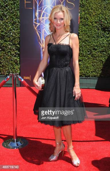 Actress Beth Littleford arrives at the 2014 Creative Arts Emmy Awards at Nokia Theatre LA Live on August 16 2014 in Los Angeles California