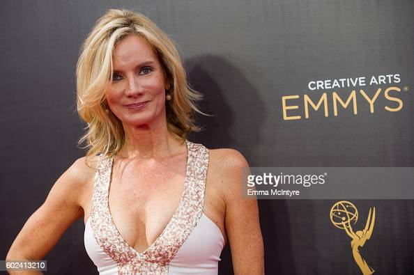 Actress Beth Littleford arrives at the Creative Arts Emmy Awards at Microsoft Theater on September 10 2016 in Los Angeles California