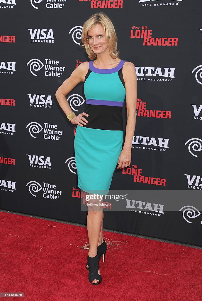 Actress Beth Littleford arrives at 'The Lone Ranger' World Premiere at Disney's California Adventure on June 22 2013 in Anaheim California