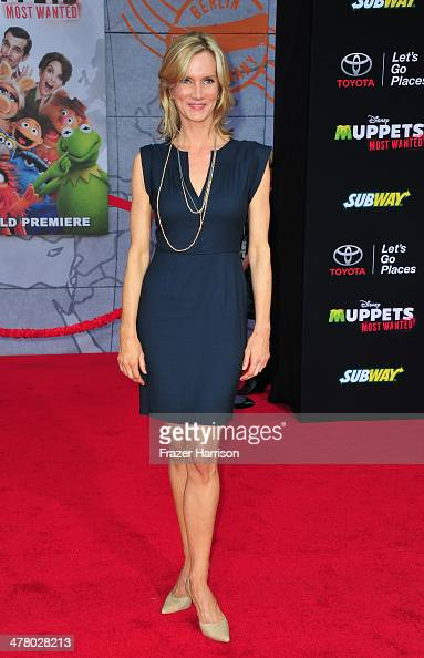 actress Beth Littleford arrives at the premiere Of Disney's 'Muppets Most Wanted' at the El Capitan Theatre on March 11 2014 in Hollywood California