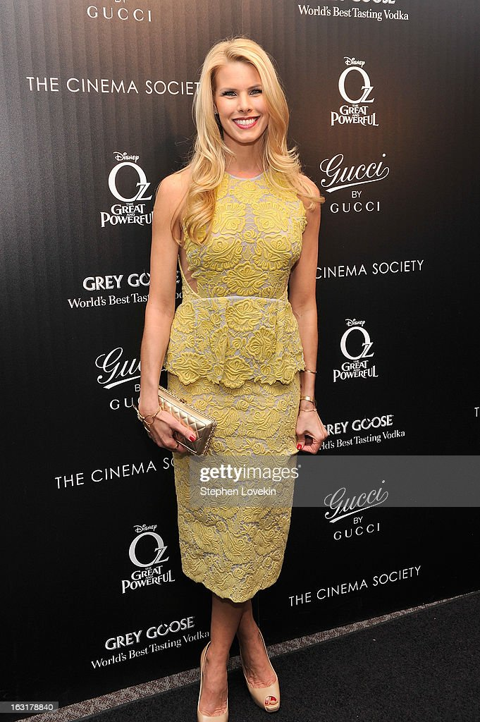Actress Beth Ostrosky attends the Gucci and The Cinema Society screening of 'Oz the Great and Powerful' at DGA Theater on March 5, 2013 in New York City.