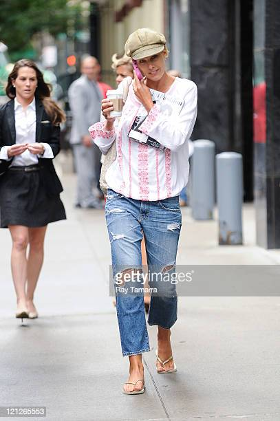 Actress Beth Ostrosky Stern walks in the Upper West Side on August 16 2011 in New York City