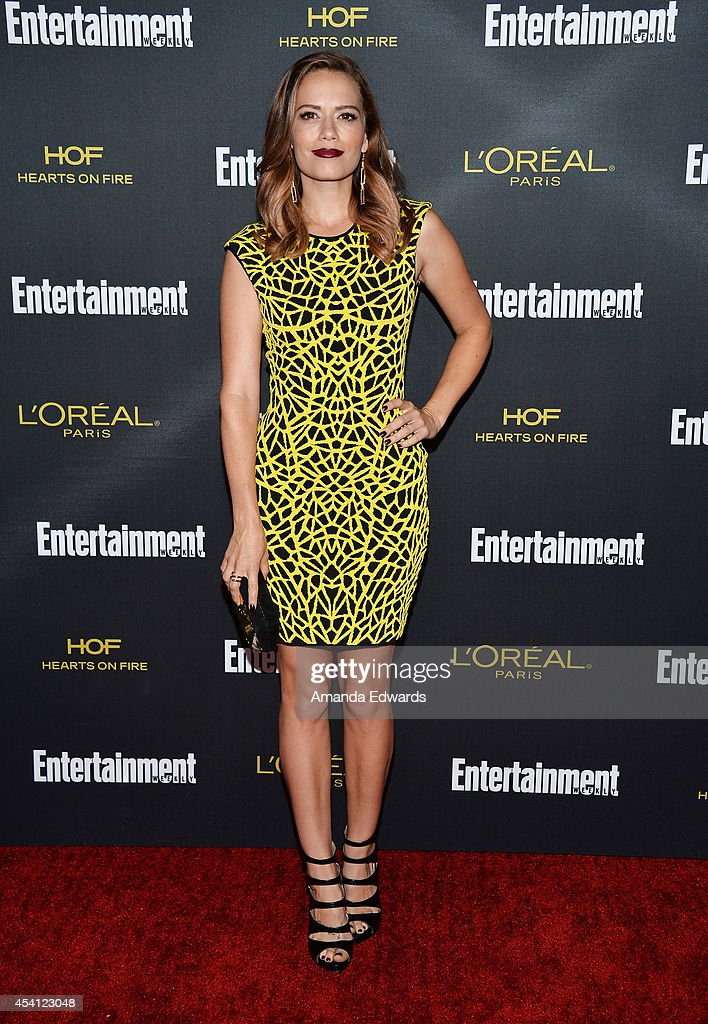 Actress Bethany Joy Lenz arrives at the 2014 Entertainment Weekly Pre-Emmy Party at Fig & Olive Melrose Place on August 23, 2014 in West Hollywood, California.