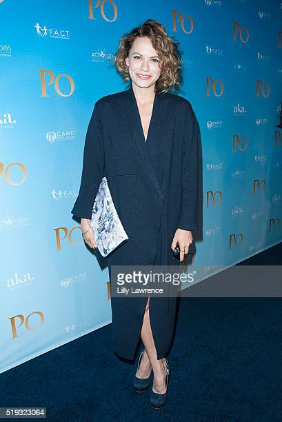 Actress Bethany Joy Lenz attends an Autism Awareness screening Of 'Po' at Paramount Studios on April 5 2016 in Hollywood California