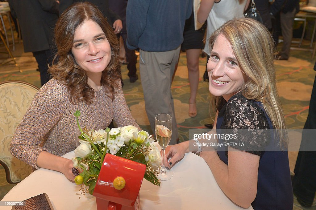 Actress Betsy Brandt and Anne Turk attend the BAFTA Los Angeles 2013 Awards Season Tea Party held at the Four Seasons Hotel Los Angeles on January 12, 2013 in Los Angeles, California.