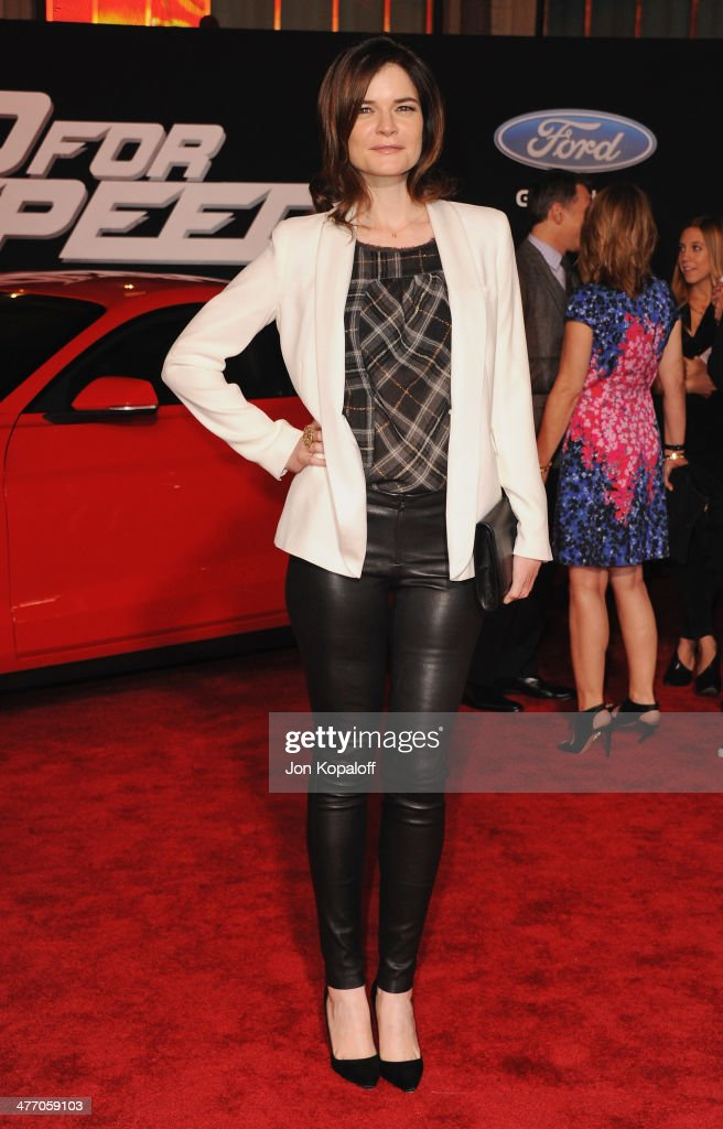 Actress <a gi-track='captionPersonalityLinkClicked' href=/galleries/search?phrase=Betsy+Brandt&family=editorial&specificpeople=4819893 ng-click='$event.stopPropagation()'>Betsy Brandt</a> arrives at the Los Angeles Premiere 'Need For Speed' at TCL Chinese Theatre on March 6, 2014 in Hollywood, California.