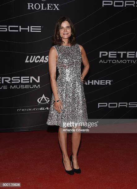 Actress Betsy Brandt arrives at the Petersen Automotive Museum Grand ReOpening at the Petersen Automotive Museum on December 5 2015 in Los Angeles...