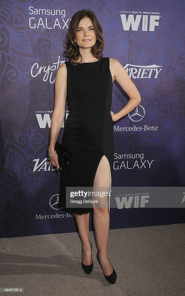 Actress <a gi-track='captionPersonalityLinkClicked' href=/galleries/search?phrase=Betsy+Brandt&family=editorial&specificpeople=4819893 ng-click='$event.stopPropagation()'>Betsy Brandt</a> arrives at the Variety And Women In Film Annual Pre-Emmy Celebration at Gracias Madre on August 23, 2014 in West Hollywood, California.