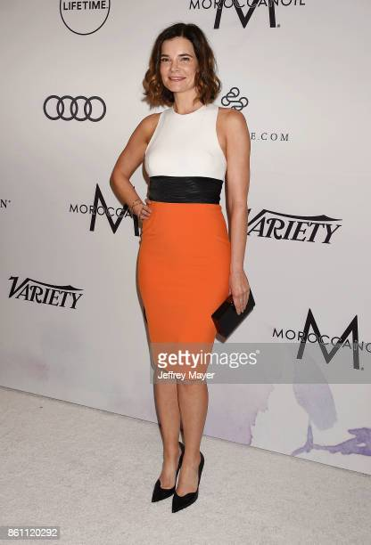 Actress Betsy Brandt arrives at the Variety's Power Of Women Los Angeles at the Beverly Wilshire Four Seasons Hotel on October 13 2017 in Beverly...