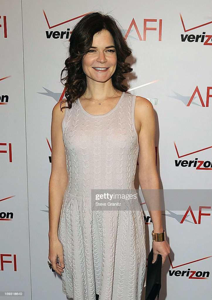 Actress <a gi-track='captionPersonalityLinkClicked' href=/galleries/search?phrase=Betsy+Brandt&family=editorial&specificpeople=4819893 ng-click='$event.stopPropagation()'>Betsy Brandt</a> attends the 13th Annual AFI Awards Luncheon at the Four Seasons Hotel Los Angeles at Beverly Hills on January 11, 2013 in Beverly Hills, California.