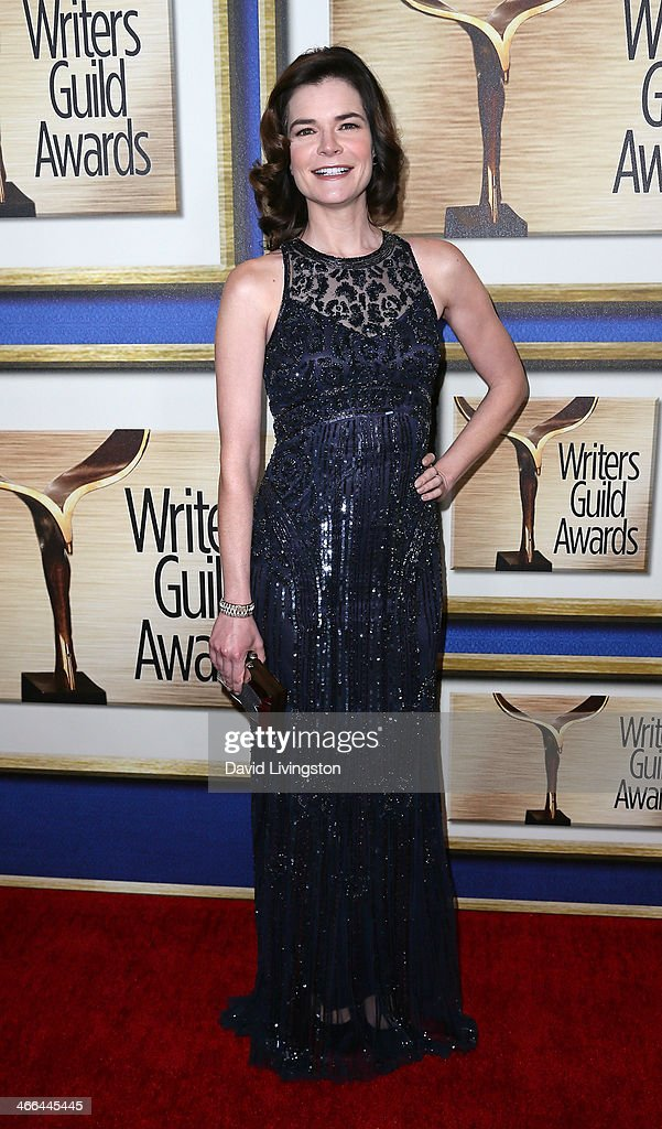 Actress <a gi-track='captionPersonalityLinkClicked' href=/galleries/search?phrase=Betsy+Brandt&family=editorial&specificpeople=4819893 ng-click='$event.stopPropagation()'>Betsy Brandt</a> attends the 2014 Writers Guild Awards L.A. Ceremony at JW Marriott Los Angeles at L.A. LIVE on February 1, 2014 in Los Angeles, California.